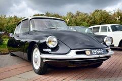 Classic old car black Stock Photos