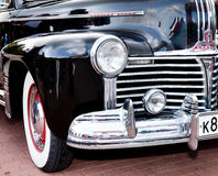 Classic old car black front left view Stock Photo