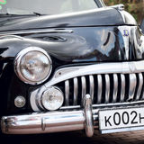 Classic old car black Royalty Free Stock Images