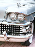 Classic old car close-up front right view Royalty Free Stock Photos