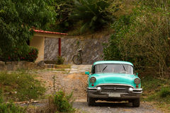 Classic old car in Cuba Royalty Free Stock Images