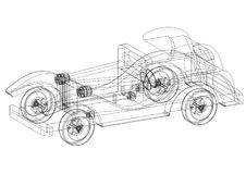 Old classic car sketch stock photos 11 images classic old car 3d blueprint isolated shoot of the classic old car 3d blueprint malvernweather Gallery