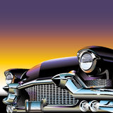 Classic old Car. A classic old car with headlights and radiator grill vector illustration