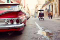 Classic old car on streets of Havana, Cuba. Classic old car on streets of Havana, Cuba Stock Photo