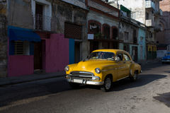 Classic old car on streets of Havana, Cuba. Royalty Free Stock Image