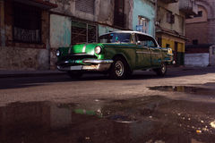 Classic old car on streets of Havana, Cuba. Stock Photo