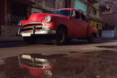 Classic old car on streets of Havana, Cuba. Stock Image