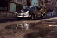 Classic old car on streets of Havana, Cuba. Classic old car on streets of Havana, Cuba Royalty Free Stock Photo
