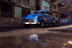 Classic old car on streets of Havana, Cuba. Stock Photos