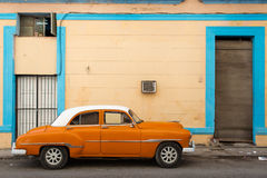 Classic old car on streets of Havana, Cuba. Classic old car on streets of Havana, Cuba Royalty Free Stock Image