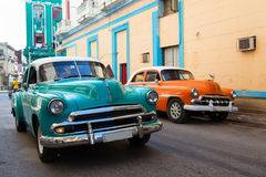 Classic old car on streets of Havana, Cuba. Stock Images