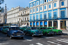 Classic old car on streets of Havana, Cuba. Royalty Free Stock Photos