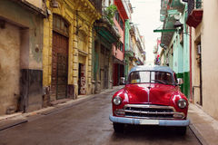 Classic old car on streets of Havana, Cuba. stock photography