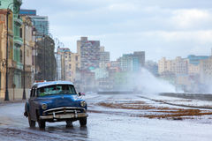 Classic old car on streets of Havana, Cuba. Royalty Free Stock Photography