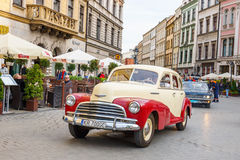 Classic old cars on the rally of vintage cars in Krakow, Poland Royalty Free Stock Images