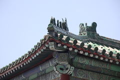 Classic old china roof in Beijing Royalty Free Stock Images