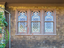 Classic old church windows Stock Photo