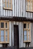 Classic old English tudor style historical house facade. Medieva Stock Image