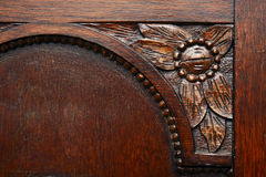 Classic Old Furniture Detail. A classic old sculptured furniture detail Stock Photos