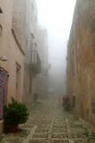 Classic old Italy - Sicily, fog in Eriche Stock Photo