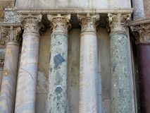 Classic old marble stone pillar ancient columns Royalty Free Stock Photos