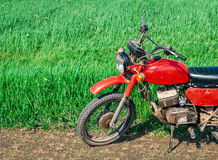 Classic old motorcycle Royalty Free Stock Images