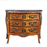 Classic old original vintage wooden chest bureau commode Stock Image