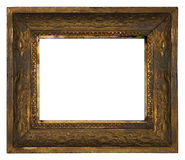 Free Classic Old Ornate Wooden Picture Frame Carved By Hand On White Background Stock Photography - 46601862