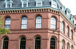Free Classic Old Red Brick Building With Arched Windows Stock Photography - 50813692