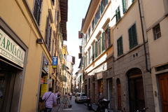 Classic old street in the center of Florence, Italy Royalty Free Stock Photos