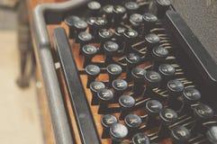 Classic Old Typewriter Keyboard Alphabet Vintage Manual Writer Equipment royalty free stock photos