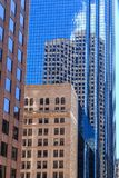 Classic architecture by modern tower in Boston Royalty Free Stock Photos