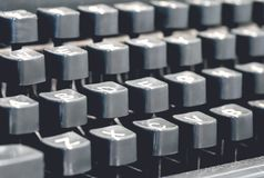Classic old vintage typewriter keyboard and keys Royalty Free Stock Images