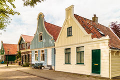 Classic old wooden Dutch houses in North Amsterdam Royalty Free Stock Images