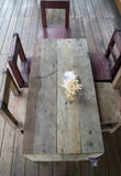 Classic old wooden furniture top view Royalty Free Stock Photography