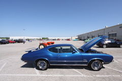 Classic Oldsmobile Cutlass. Local auto show and cars for sale in St. Louis Missouri Royalty Free Stock Photo