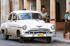 Classic oldtimer automobile on a street. Havana, Cuba. Stock Images