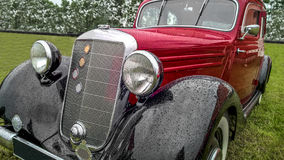 Classic oldtimer car. Detail fragment of a classic oldtimer car Royalty Free Stock Images