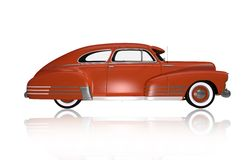 Classic Oldtimer Side View. Classic Car Illustration Isolated on White Stock Image