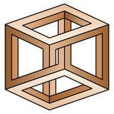 Optical illusion. Classic optical illusion. Impossible geometrical figure Royalty Free Stock Image
