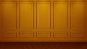 Classic orange Interior living studio mock-up 3D rendering. Empty room for your montage. copyspace royalty free illustration