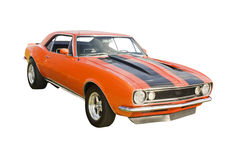 Classic orange muscle car Stock Images