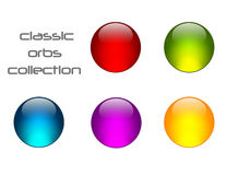Classic Orbs Collection. A Glossy Classic Orbs Collection Royalty Free Stock Photography