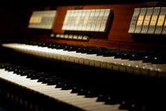Classic organ keyboard. With two manuals Royalty Free Stock Image