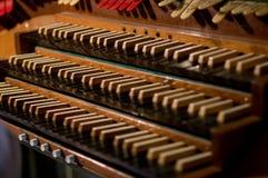 Classic organ keyboard and key Royalty Free Stock Image