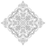 Classic  Orient Pattern. Damask  floral bright pattern with gray oriental elements. Abstract traditional ornament Stock Image