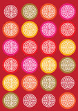 Classic oriental pattern background Stock Images