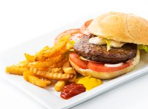Classic Original Beef Burger Stock Photos