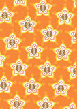 Classic ornamental flower mandala. Traditional flower pattern with orange colour background Stock Photos
