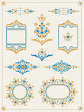 Classic ornamental frame set Stock Image